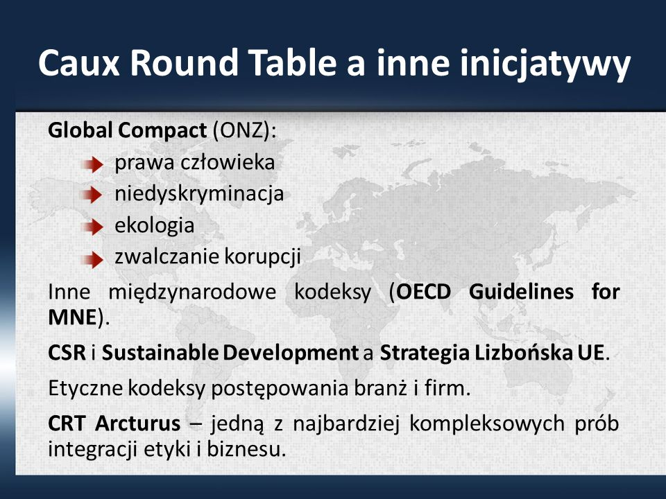 Caux Round Table a inne inicjatywy