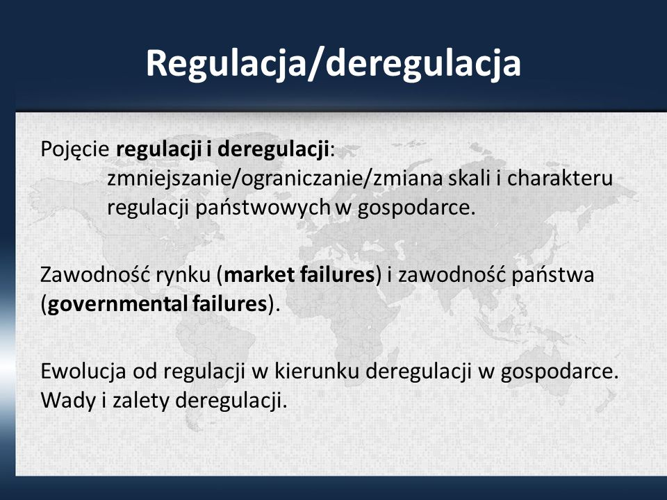 Regulacja/deregulacja