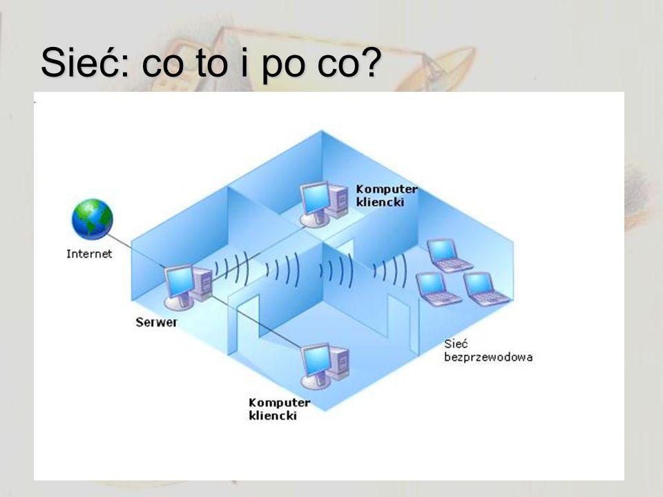 Sieć: co to i po co Zbiór komputerów Brak indeksów i archiwów