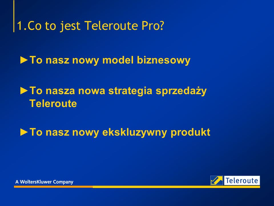 1.Co to jest Teleroute Pro