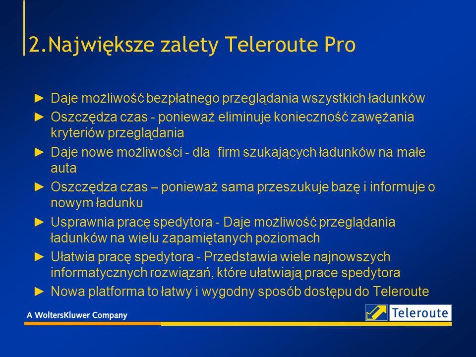 2.Największe zalety Teleroute Pro