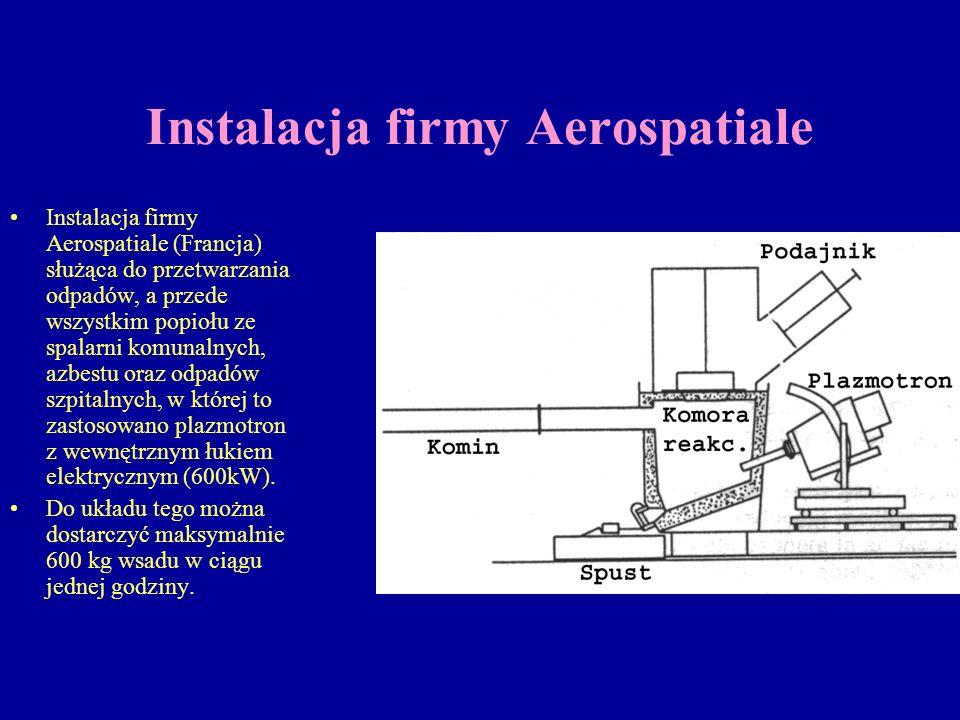 Instalacja firmy Aerospatiale