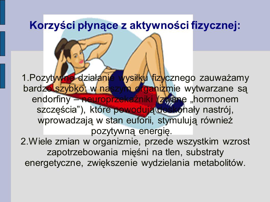 Korzyści płynące z aktywności fizycznej:
