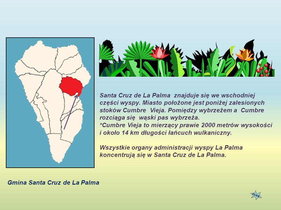 Santa Cruz de La Palma znajduje się we wschodniej części wyspy