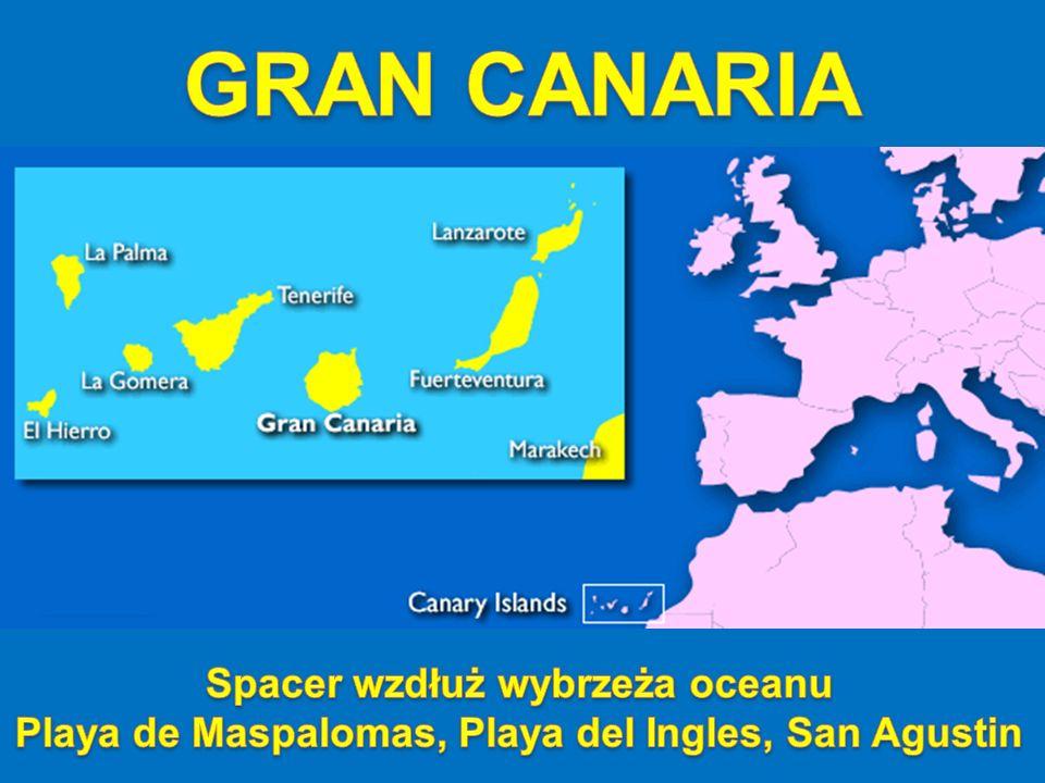 GRAN CANARIA Spacer wzdłuż wybrzeża oceanu