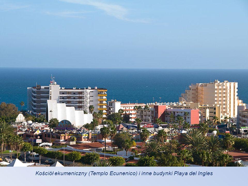 Kościół ekumeniczny (Templo Ecunenico) i inne budynki Playa del Ingles
