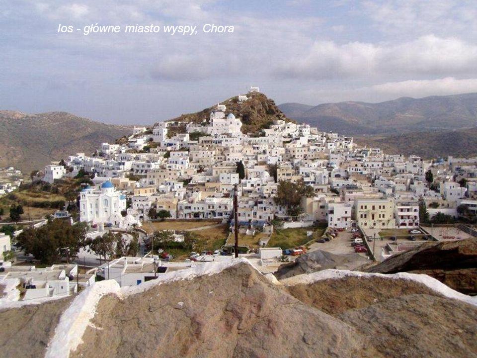 Ios - główne miasto wyspy, Chora