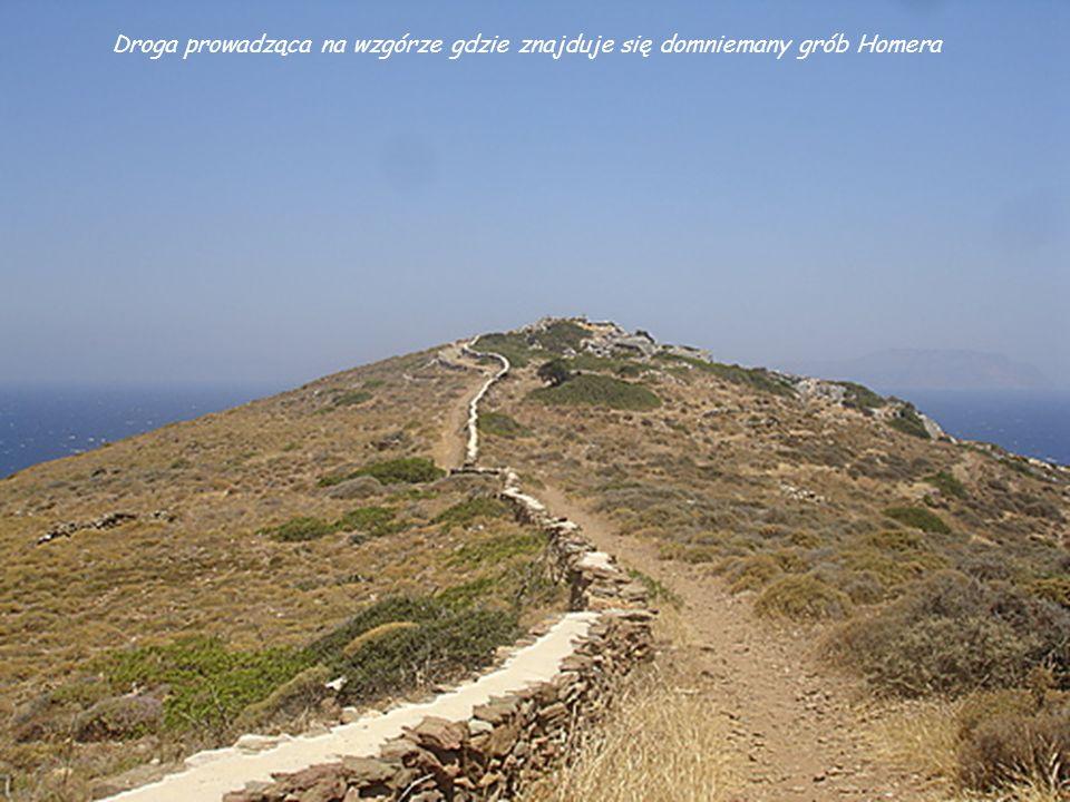 Droga prowadząca na wzgórze gdzie znajduje się domniemany grób Homera