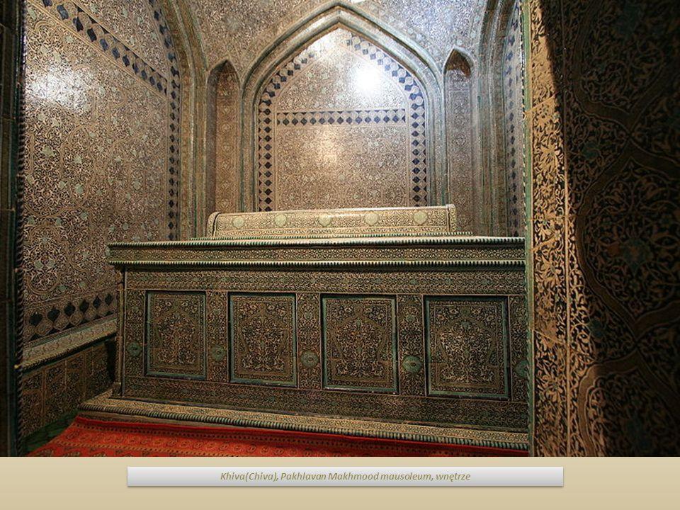 Khiva(Chiva), Pakhlavan Makhmood mausoleum, wnętrze