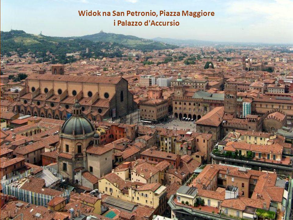Widok na San Petronio, Piazza Maggiore