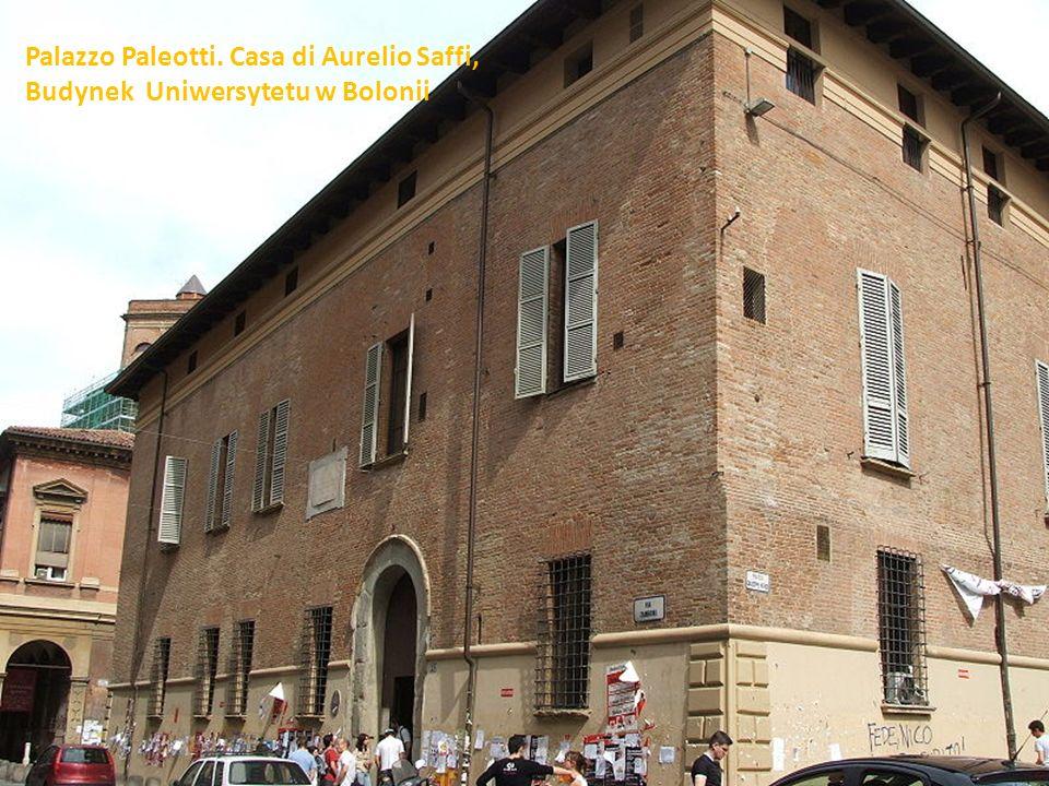 Palazzo Paleotti. Casa di Aurelio Saffi,