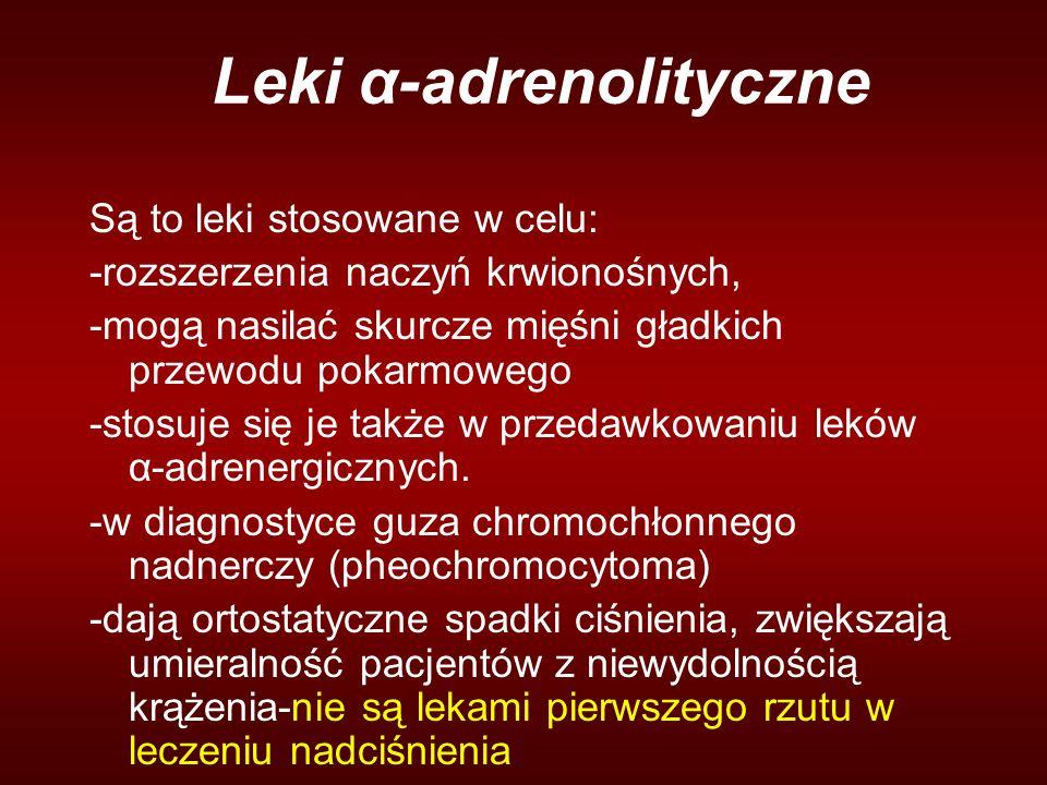 Leki α-adrenolityczne