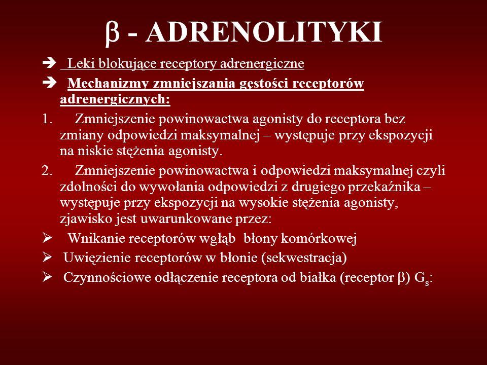  - ADRENOLITYKI è Leki blokujące receptory adrenergiczne