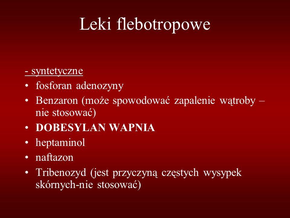 Leki flebotropowe - syntetyczne fosforan adenozyny