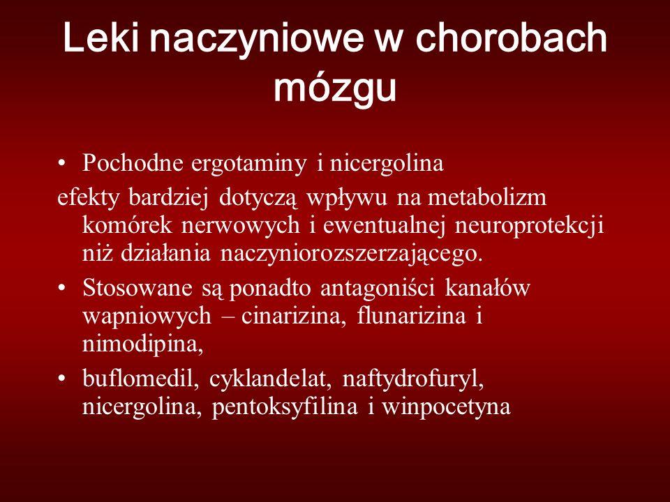 Leki naczyniowe w chorobach mózgu