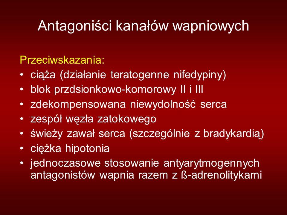 Antagoniści kanałów wapniowych