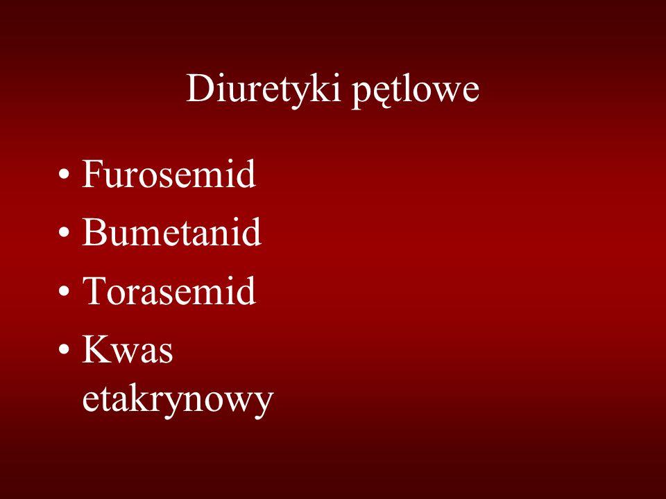 Diuretyki pętlowe Furosemid Bumetanid Torasemid Kwas etakrynowy