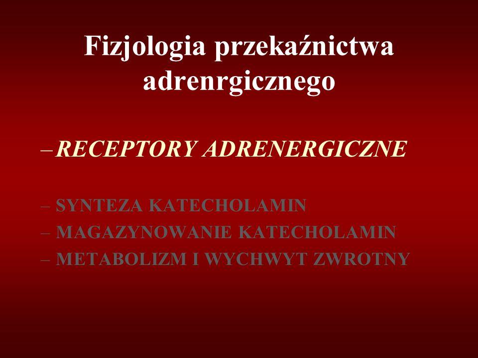Fizjologia przekaźnictwa adrenrgicznego