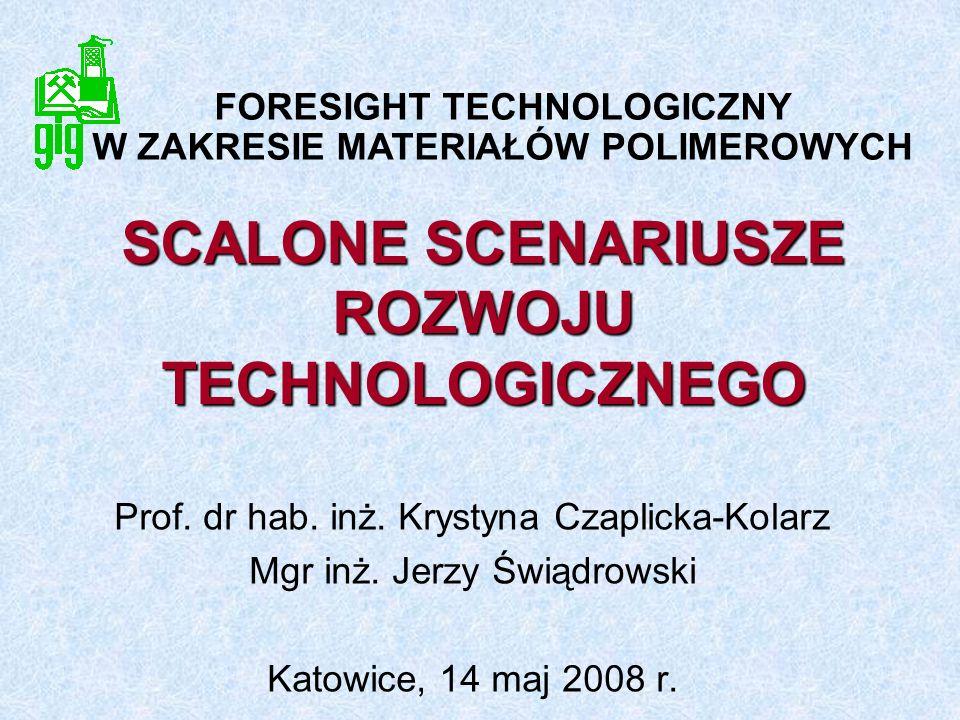 SCALONE SCENARIUSZE ROZWOJU TECHNOLOGICZNEGO