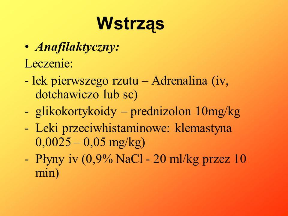 Wstrząs Anafilaktyczny: Leczenie: