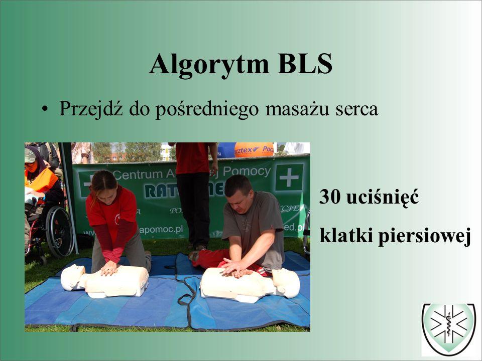 Algorytm BLS Przejdź do pośredniego masażu serca 30 uciśnięć