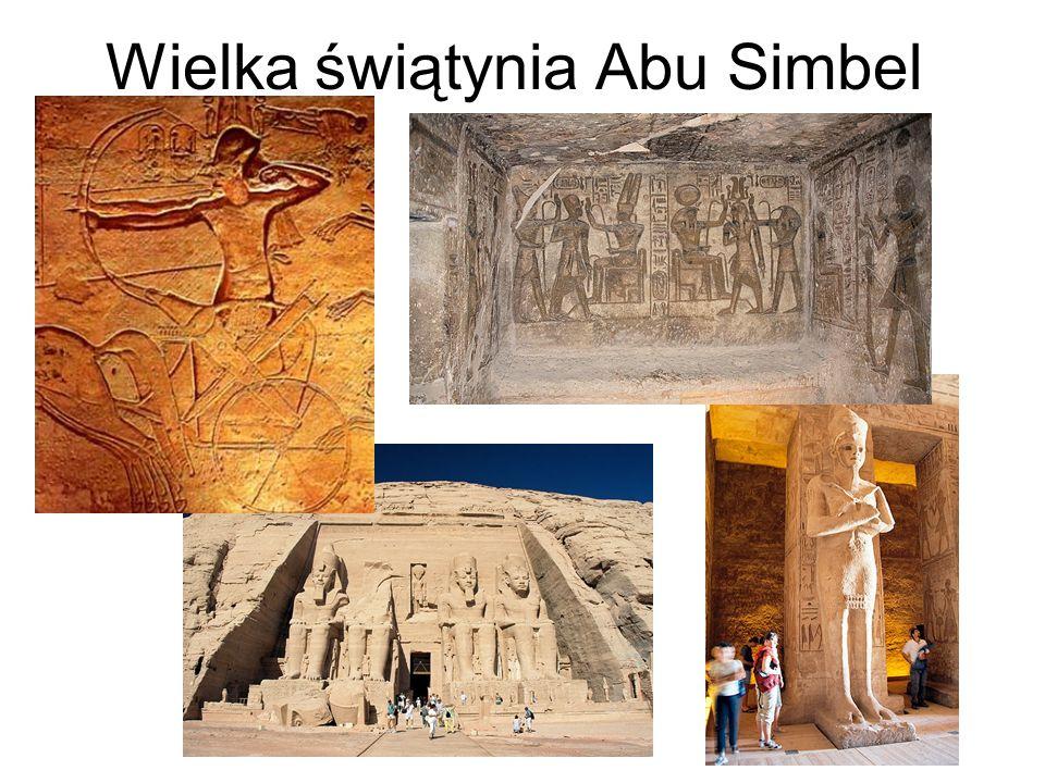 Wielka świątynia Abu Simbel