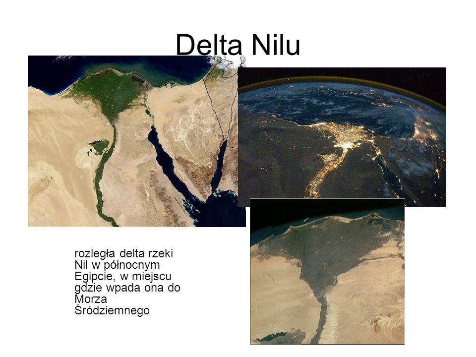 Delta Nilu rozległa delta rzeki Nil w północnym Egipcie, w miejscu gdzie wpada ona do Morza Śródziemnego.