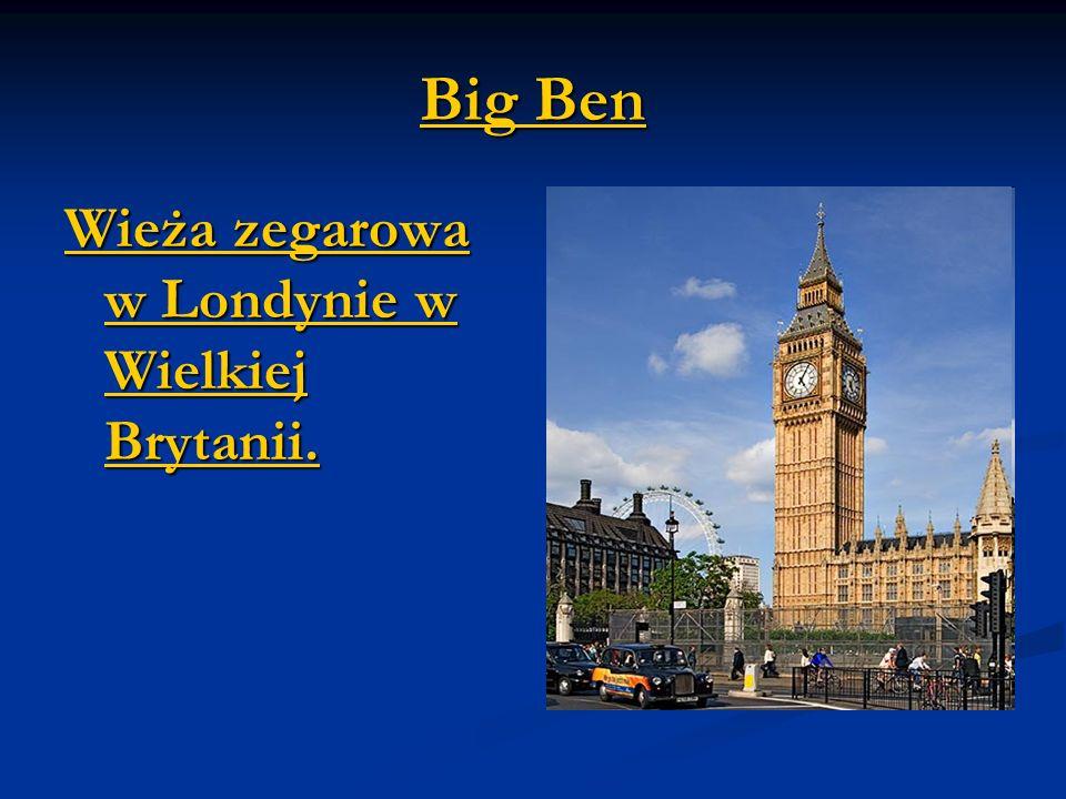 Big Ben Wieża zegarowa w Londynie w Wielkiej Brytanii.