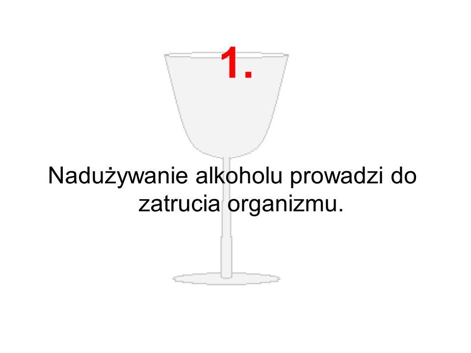 Nadużywanie alkoholu prowadzi do zatrucia organizmu.