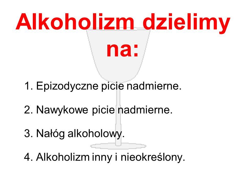 Alkoholizm dzielimy na: