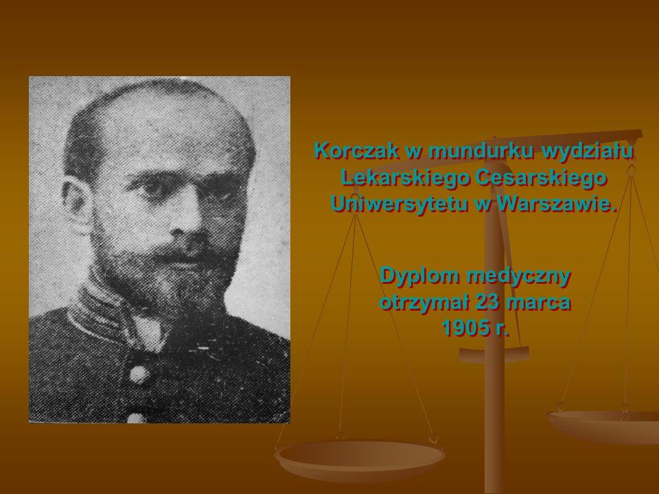 Dyplom medyczny otrzymał 23 marca 1905 r.