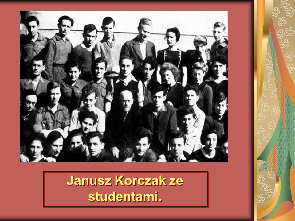 Janusz Korczak ze studentami.