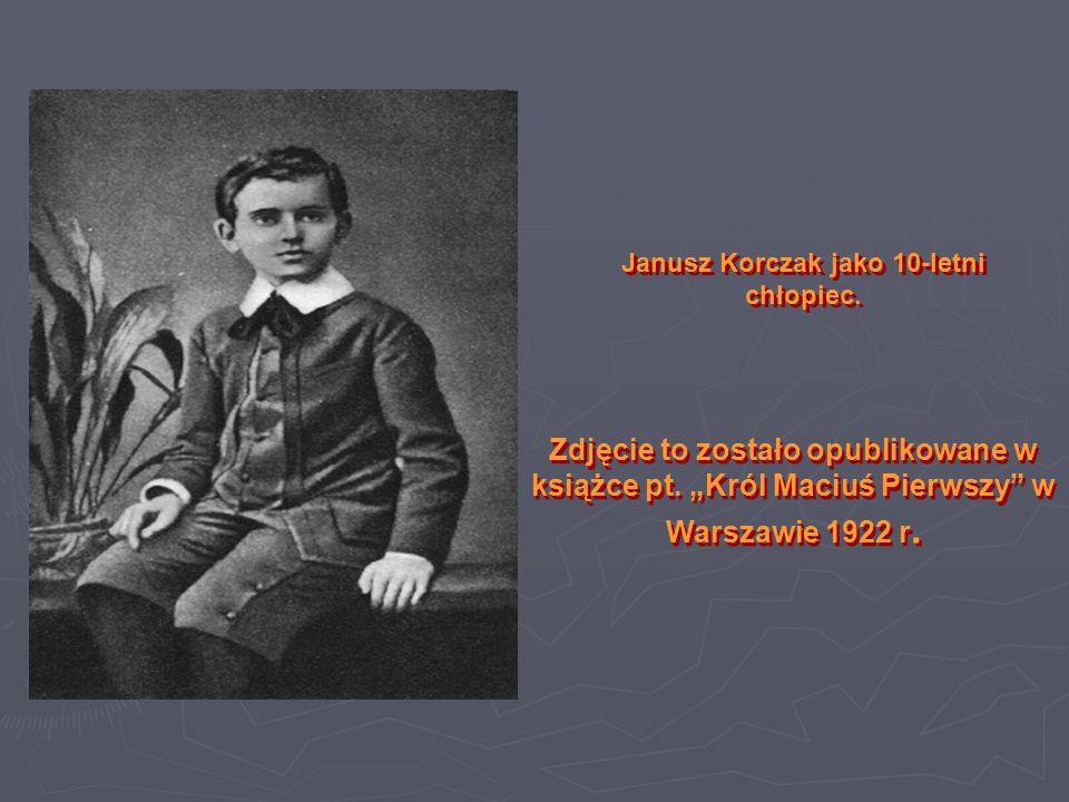 Janusz Korczak jako 10-letni chłopiec.
