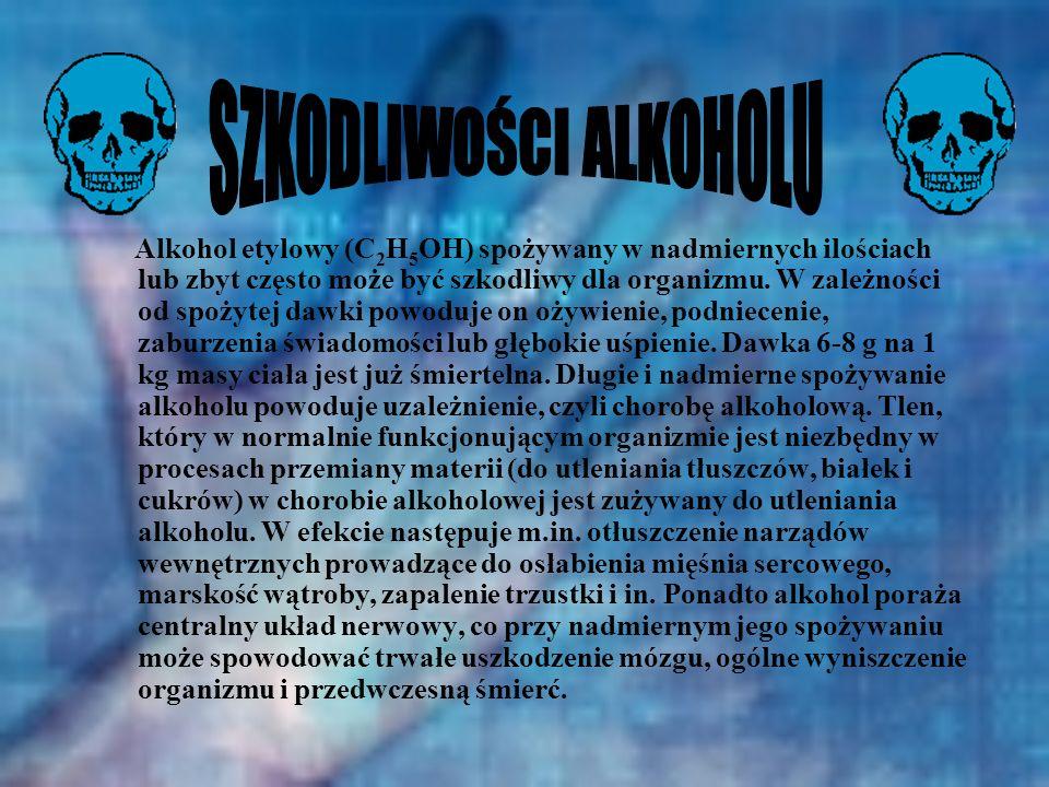 SZKODLIWOŚCI ALKOHOLU