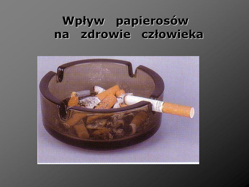 Wpływ papierosów na zdrowie człowieka