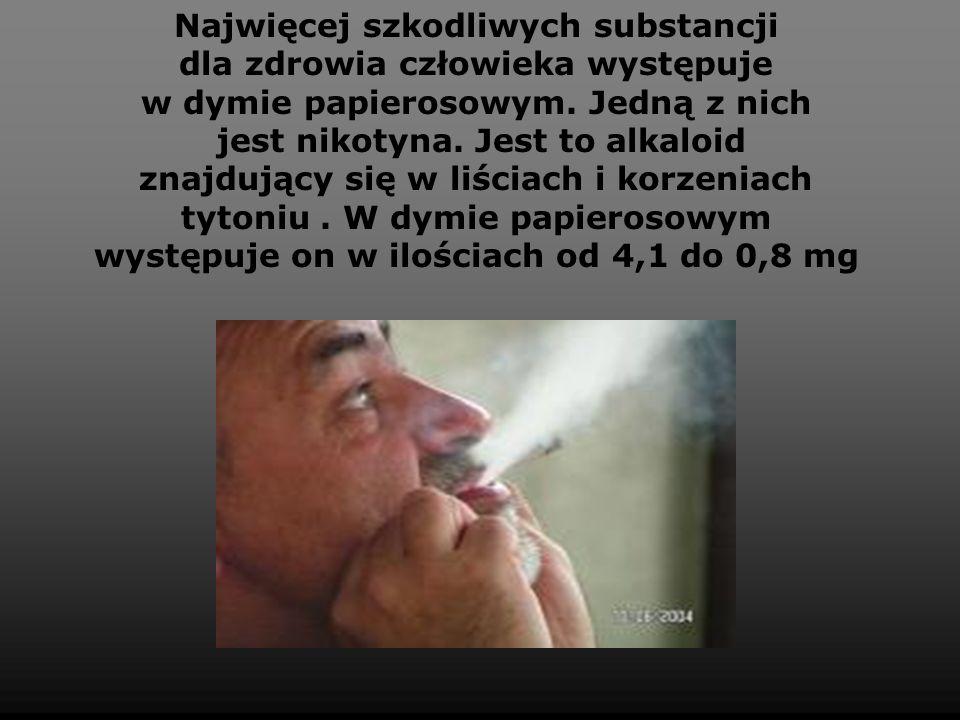 Najwięcej szkodliwych substancji dla zdrowia człowieka występuje