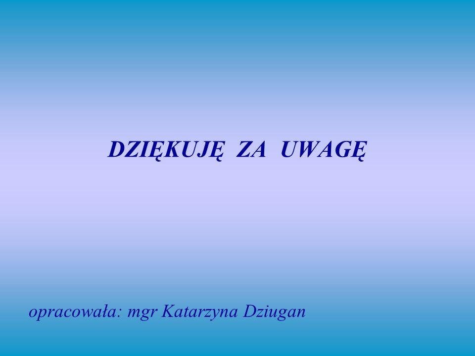 opracowała: mgr Katarzyna Dziugan