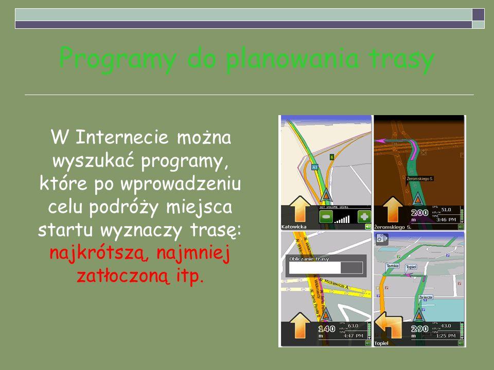 Programy do planowania trasy