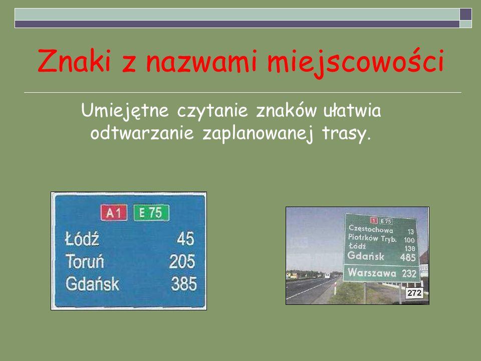 Znaki z nazwami miejscowości