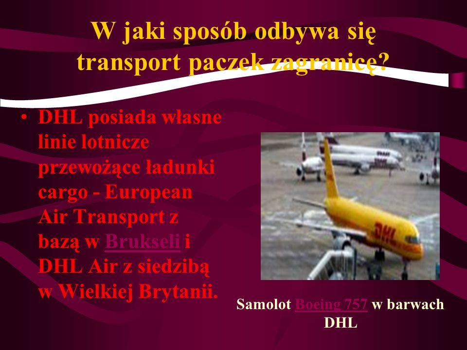 W jaki sposób odbywa się transport paczek zagranicę