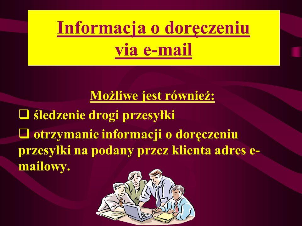 Informacja o doręczeniu via e-mail