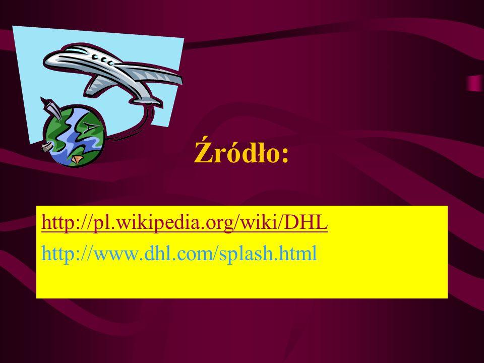 http://pl.wikipedia.org/wiki/DHL http://www.dhl.com/splash.html