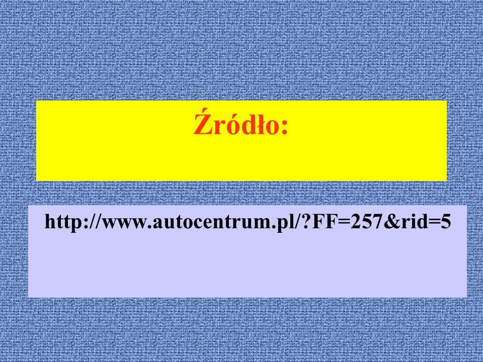 Źródło: http://www.autocentrum.pl/ FF=257&rid=5