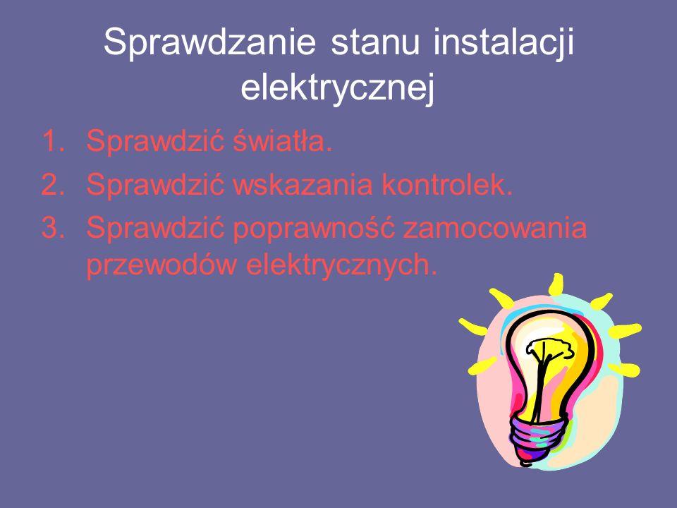 Sprawdzanie stanu instalacji elektrycznej