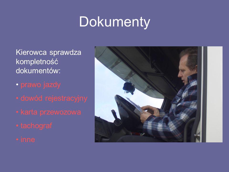 Dokumenty Kierowca sprawdza kompletność dokumentów: prawo jazdy