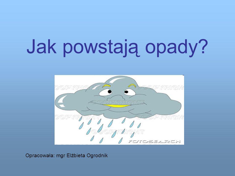 Jak powstają opady Opracowała: mgr Elżbieta Ogrodnik