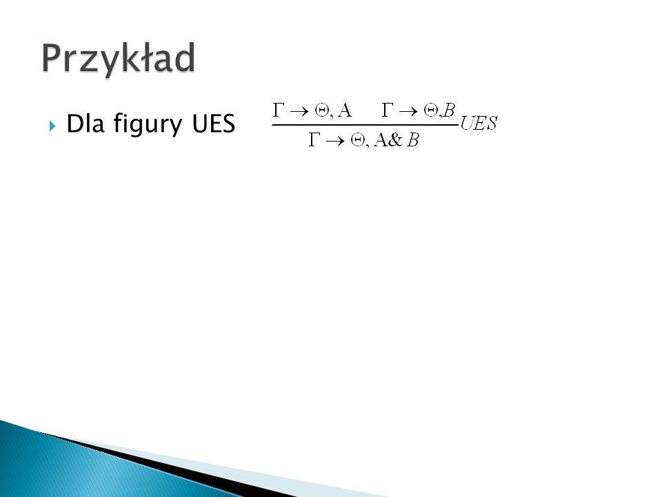Przykład Dla figury UES
