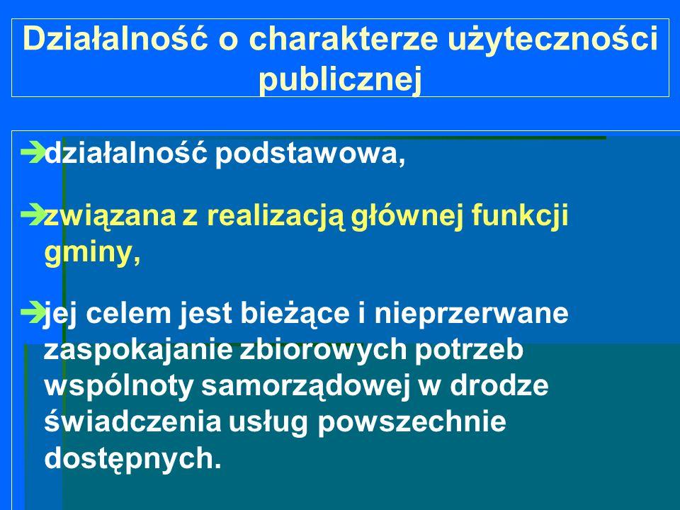 Działalność o charakterze użyteczności publicznej