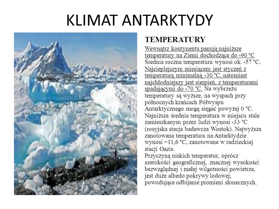 KLIMAT ANTARKTYDY TEMPERATURY