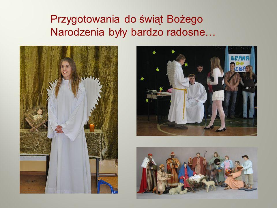 Przygotowania do świąt Bożego Narodzenia były bardzo radosne…